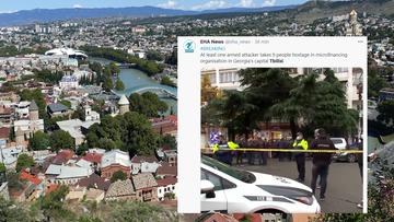 Gruzja: uzbrojony mężczyzna wziął zakładników. Został zatrzymany