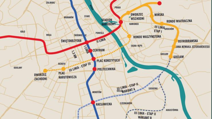 Ruszy budowa III linii metra w Warszawie. Gdzie zaplanowano stacje?