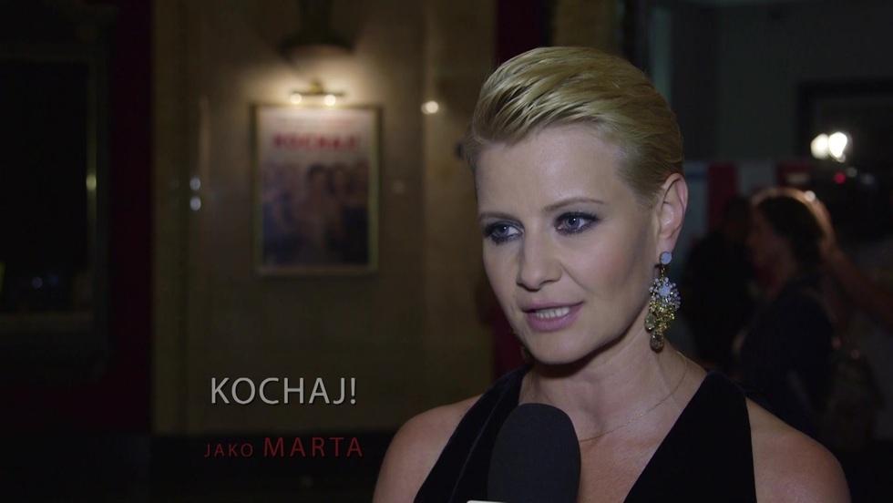 """Zjawiskowa Małgorzata Kożuchowska na premierze filmu """"Kochaj"""""""